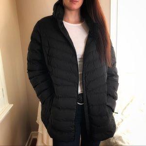 3 LEFT L, XL, XXL Chic Warm Insulated Black Coat